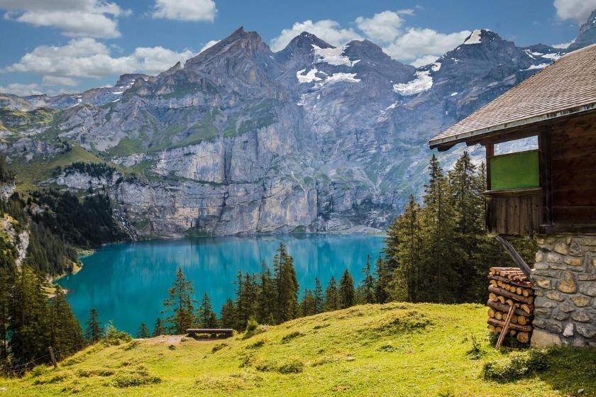 Berge Sommerurlaub Haustausch Kandersteg Schweiz Kanton Bern