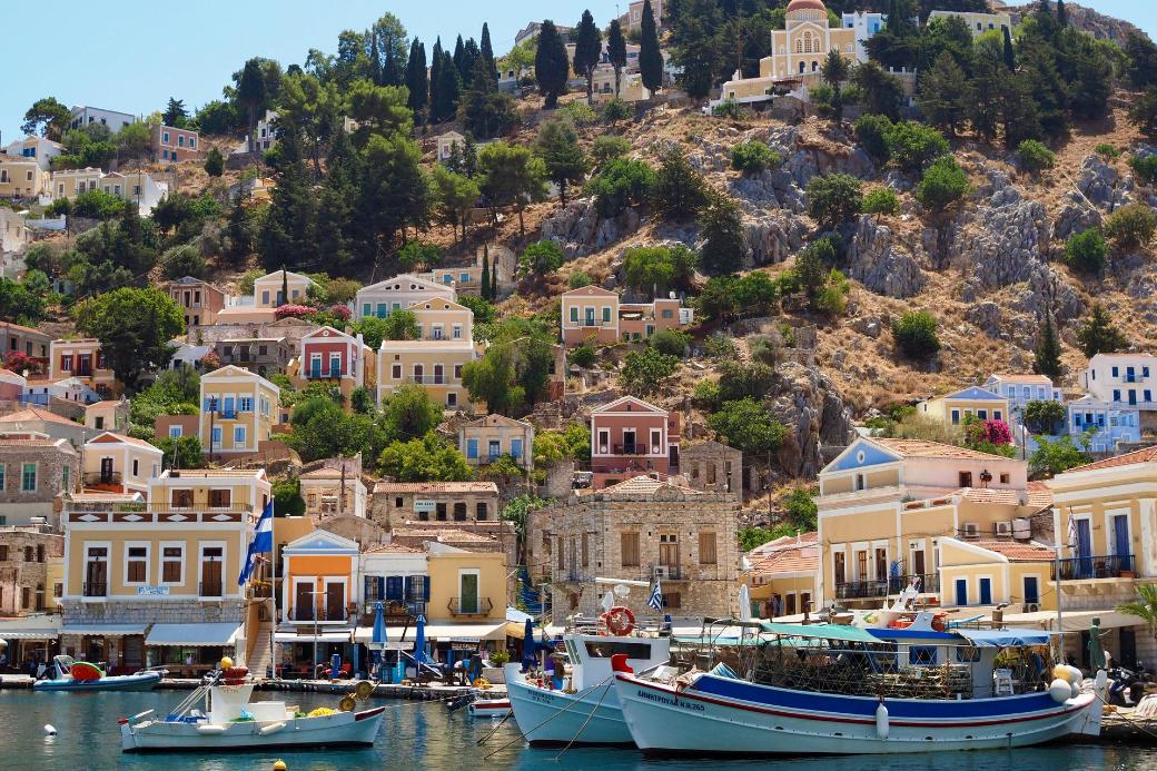 Griechenland-Symi-Bot-Haus-Ende Sommer-Urlaub-Haustausch